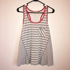 Striped Tank Top With Lace